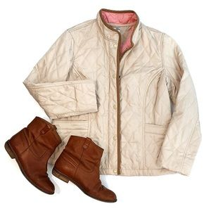Lilly Pulitzer Beige Quilted Jacket Size 4